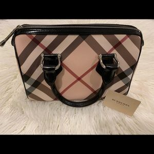 Burberry Boston Bag with authenticity card